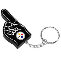Pittsburgh Steelers Official NFL #1 Finger Keychain