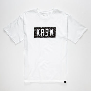 Kr3w Rose Locker Mens T-Shirt White  In Sizes