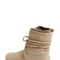 TOMS 'Zahara' Suede Bootie with Faux Fur Lining (Women) | Nordstrom