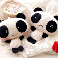 1Pc Plush Cute Panda Cartoon Keychain Bag Pendant Key Ring Kawaii Gift Present