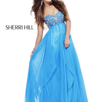 Grecian-Inspired Sherri Hill Prom Pageant Dress 3841