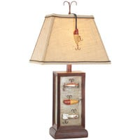 Vintage Direct CL2639S Fishing Lure 28-Inch Table Lamp