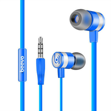 Original BEEVO EM330 In-Ear Super Bass Earphones Stereo Head phones Spot Running Head set Handfree + Mic for Iphone For Samsung