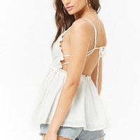 Crochet Trim High-Low Cami