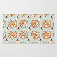 Mandala And Bloom Rug by carmenrayanderson