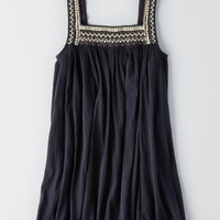 AEO Women's Beaded Shift Dress (Washed Black)