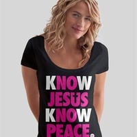 NOTW > Know Jesus Womens Scoop > Womens Christian Shirts @ C28