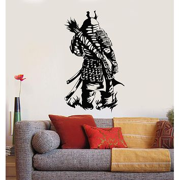 Vinyl Wall Decal Samurai Warrior Armor Teen Room Japanese Art Stickers Mural Unique Gift (ig5131)