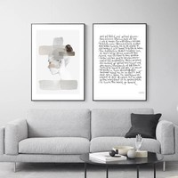 WANGART Watercolor Nordic Posters and Prints Wall Art Portrait Canvas Painting Pictures For Living Room Scandinavian Home Decor