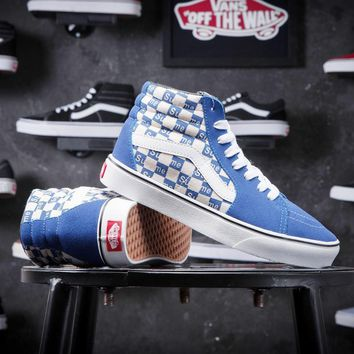 Supreme X Old Skool Vans Canvas Shoes Brand Women And Mens Supreme Logo Checkerboard Sneakers Skateboarding Shoes G-CSXY-1