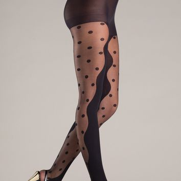 Be Wicked Opaque Hidden Polka Dot Pantyhose