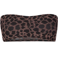FULL TILT Flocked Cheetah Bandeau 190853400 | Tanks & Camis | Tillys.com