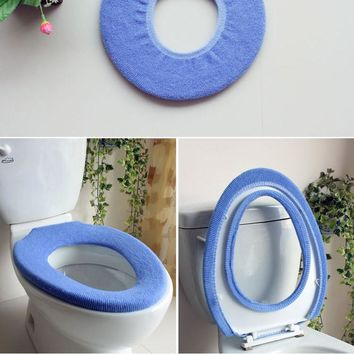 Bathroom accessories toilet bath mat toilet seat cover toilet set toilet seat heating WC seat mat Color random
