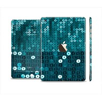 The Teal Sequences Full Body Skin Set for the Apple iPad Mini 3