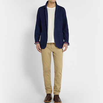 Grayers - Indigo Nelson Unstructured Cotton Blazer | MR PORTER
