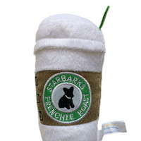 Starbarks with Lid, Starbarks Dog Toy, Coffee Cup Dog Toy, Designer Dog Toy, Haute Diggity Dog Toy