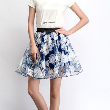 Mini chiffon skirt cute summer skirt (C476)