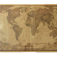 World Map Paper Posters Retro  Vintage Style  Retro in Wall Stickers Home Decoraction  Art Word Map Large  paper posters JY-020