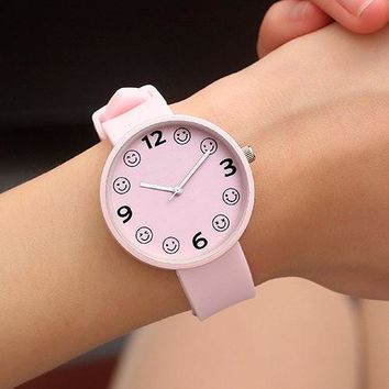 JBRL Brand Students Children Silicone Watch Simple Wrist Clock Kids Watches Girls Child Hours Brand Quartz Wristwatch For Gift