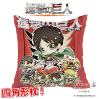 New Attack on Titan Shingeki no Kyojin Anime Dakimakura Square Pillow Cover GZFONG299