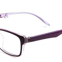 Nancy Eyeglasses with Purple Acetate Rectangle Full Frame/Rim Frame