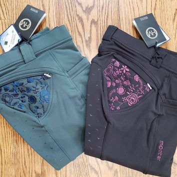 Alina Yati Breeches with Full Seat Silicone + Embroidery