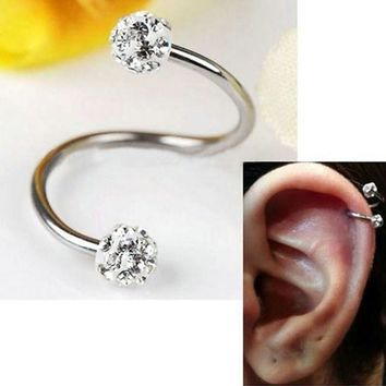 ICIKHY9 Steel Stainless Steel Twist Helix Cartilage Earring Piercing Lots Nose Ring And Studs Body Jewelry L10523