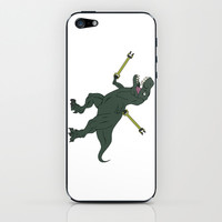 Unstoppable T-rex iPhone & iPod Skin by DanielBergerDesign