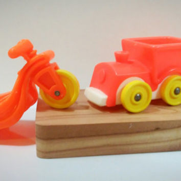 Vintage Fisher Price Little People Train and Tricycle Set