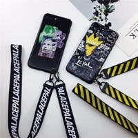 2017 Words White off Soft Scrub TPU Phone Case For iphone 6 6plus,Silicone Clear Back Cover For iphone 7 7plus+Hand Rope lanyard