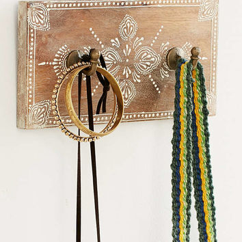 Hand-Painted Wooden Wall Hook | Urban Outfitters