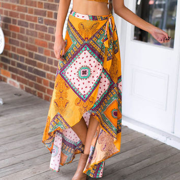 Bohemian Matching Set Skirt