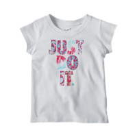 Nike JDI Print Party Infant/Toddler Girls' T-Shirt Size 24M (White)