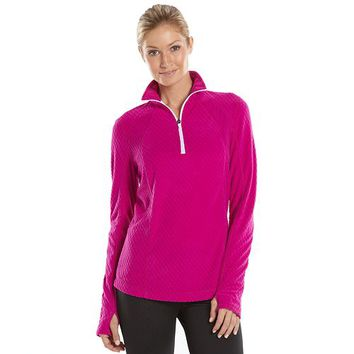 Tek Gear® Waffle Fleece Quarter-Zip Jacket - Women's