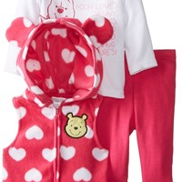 Disney Baby Girls'  Microfleece 3 Piece Vest Set