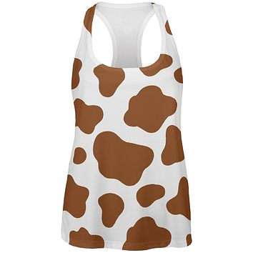 Halloween Costume Brown Spot Cow All Over Womens Work Out Tank Top