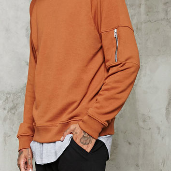 Zip-Sleeved Sweatshirt
