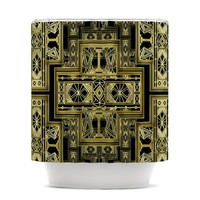 "Nika Martinez ""Golden Art Deco"" Shower Curtain"