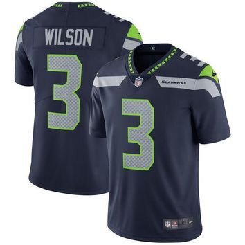 Youth Seattle Seahawks Russell Wilson College Navy Vapor Untouchable Limited Player Jersey