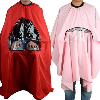 Salon Barbers Hairdressing Cape Gown Hair Cutting Clothes Viewing Window PY8 SM6