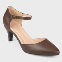 Women's Journee Collection D'orsay Comfort Sole Ankle Strap Heels
