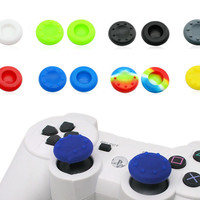 Silicone Analog Grips Thumb stick handle caps Cover For Sony Playstation 4 PS4 PS3 Xbox Controllers 20pieces