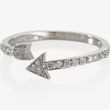 CUBIC ZIRCONIA PAVE ARROW RING from EXPRESS