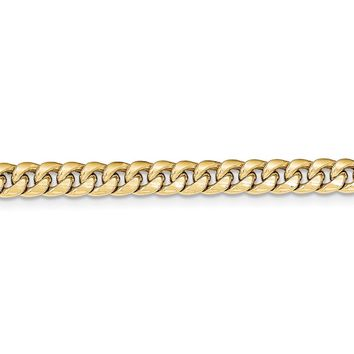 Men's 6mm 14k Yellow Gold Hollow Cuban Curb Chain Necklace