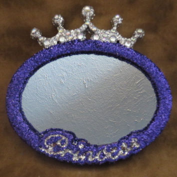 Princess Decor - Princess Mirror - Purple Mirror - Baby Girl Decor - Room Decorations - Vanity Mirror - Baby Princess - Gifts Under 30