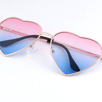 Heart Shaped Gradient Sunglasses