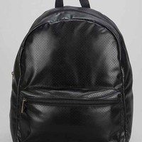 Feathers Perforated Backpack- Black One