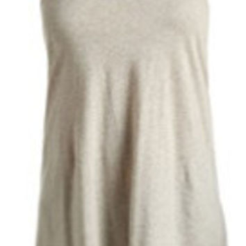 Knotted Back Oatmeal Tank