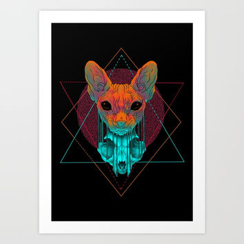 Reflections Art Print by Angrymonk