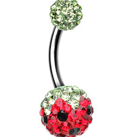 Sweet Berry Sparkling Belly Button Ring